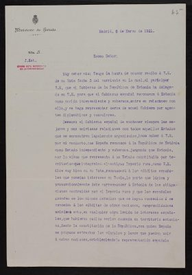 Hispaania välisministri kiri Eesti esindajale Pariisis. Fotod: Rahvusarhiiv