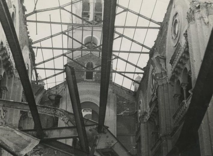Hispaania kodusõja aegsed purustused Madridis, hävinenud kirik Arguelles'i linnaosas Rosso de Luna tänavas. Foto: Rahvusarhiiv