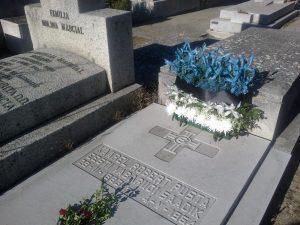Karl Robert Pusta haud Madridi Almudena kalmistul. Foto: Eesti saatkond Madridis