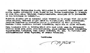 Carta de la Embajada de España a August Torma, Representante Diplomático de la República de Estonia en Londres, 27.10.1953