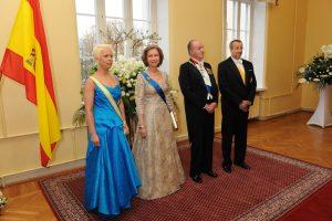 Kuningapaar vastuvõtul. Foto: välisministeeriumi arhiiv