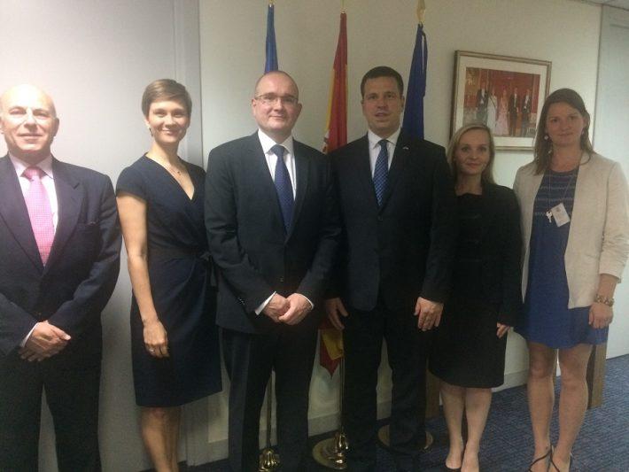 Peaminister saatkonnas. Foto: Eesti saatkond Madridis