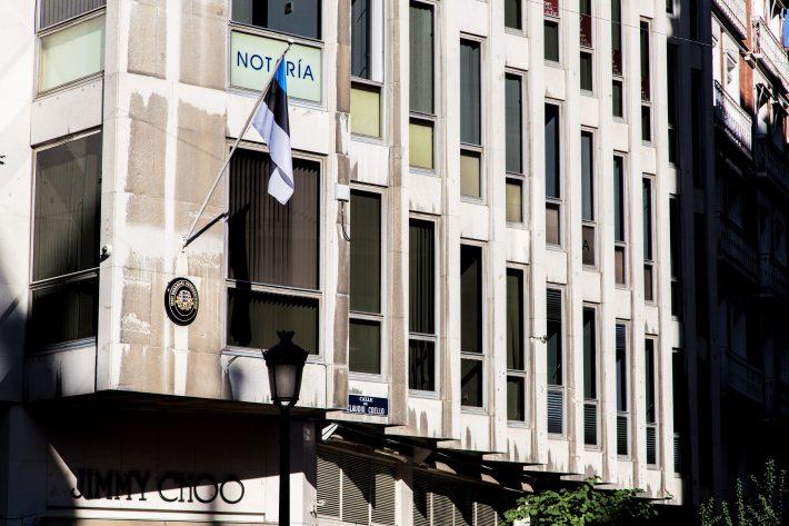 Hoone, kus Eesti saatkond asub siiani. Foto: välisministeeriumi arhiiv